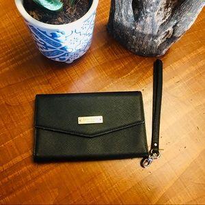 KATE SPADE iPhone Envelope Wristlet - Black NWOT